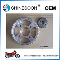 Motorcycle engines drive chains and sprockets , transmission chains ( MODEL TITAN150 )