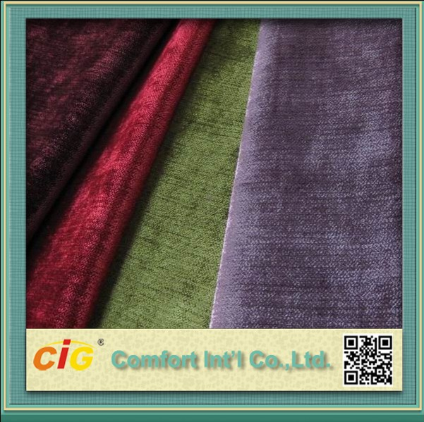 100% Polyester Good Quality Classic Jacquard Chenille Upholstery Fabric