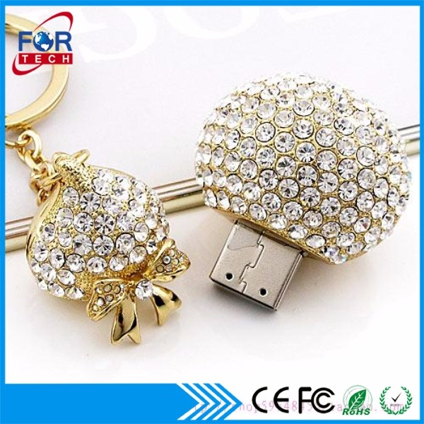 1GB Diamond USB Jewelry USB Flash Drive for Thanksgiving Lady Gift