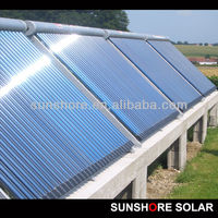 SUNSHORE Solar Keymark certificated vacuum tube hot sale solar collector