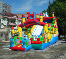 commercial big cartoon and animation theme inflatable snow slide inflatable slide bouncer giant inflatable water slide for kids