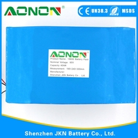 60V 18650 Rechargeable Battery With 40AH Capacity For Electric Cars