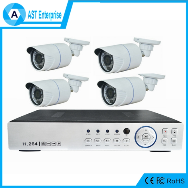 4ch CCTV Camera System 4ch Digital DVR Wireless CCTV Camera DVR Kit Hybrid 4ch AHD 1080p h.264 ahd dvr kit
