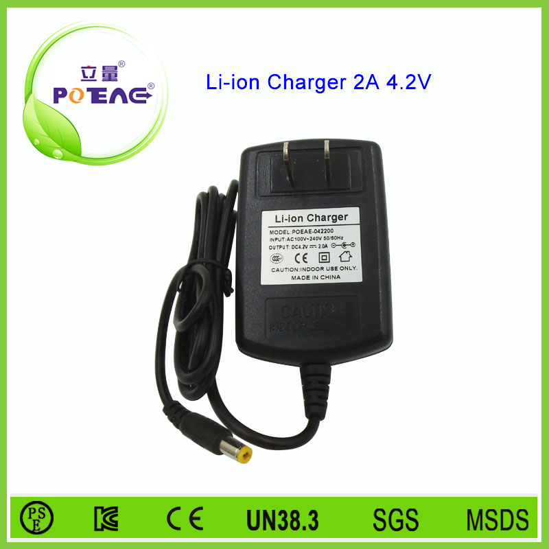 Hot sale lithium ion battery charger li-ion 4.2v 2a