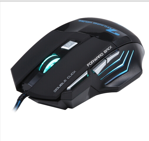 6D mouse 7 Buttons with Scroll Wheel 5000 DPI LED Wired Optical Gaming Mouse for Computer PC Laptop