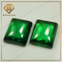 Rock and Mineral Specimen green rectangle shape cabochon cubic zirconia