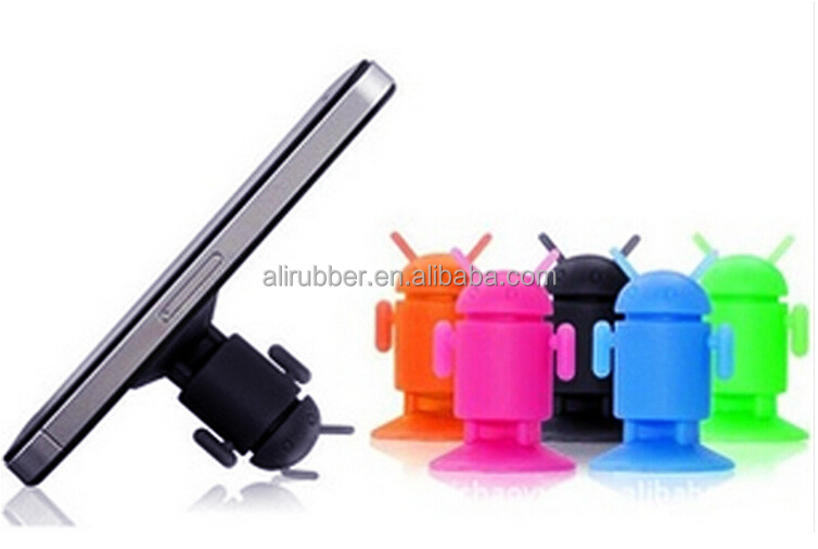 2015 hot Promotional gift Android Robot Headphone Splitter and stand for smart phone.