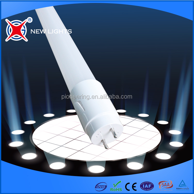 hot sales 2016 new 12w 4ft led T8 glass tube, led glass T8 tube g13 plastic base