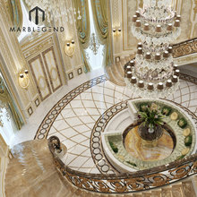 hot sale modern decorative lobby entrance marble flooring design exquisite water jet medallion