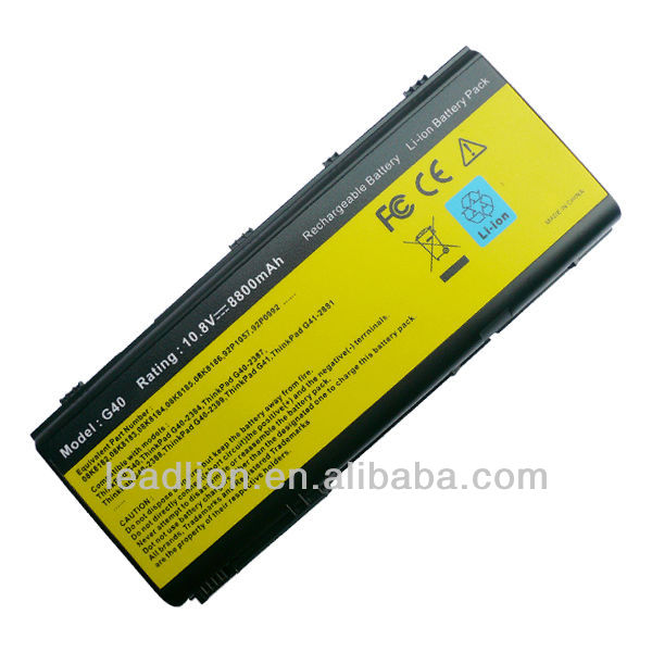 replacement nootebook battery for IBM ThinkPad G40 Series 08K8183