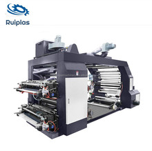 4 colour plastic/papers bag making flexo die cutting and printing press machine price