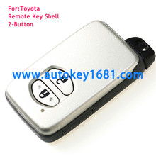 2 BUTTON REMOTE KEY FOB CASE Shell For TOYOTA Auris Prius Verso Yaris SMART key