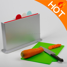 K57-0012 4pcs/Set Plastic Cutting Board With A Stand