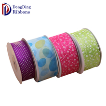 Hot selling wholesale mesh organza ribbon , hand dyed silk ribbon for birthday party decoration
