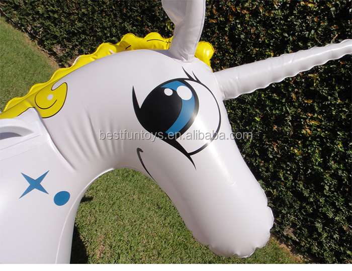 Water Toys For Grown Ups : High strength plastic large inflatable unicorn pegasus