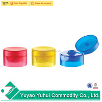 Yuyao best sell plastic tube bottle use 22/400 plastic double wall flip top cap