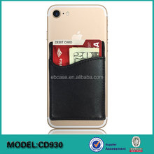 Cell Phone case 3M sticker Adhesive leather id credit Card holder Stick-on Wallet for mobile phone