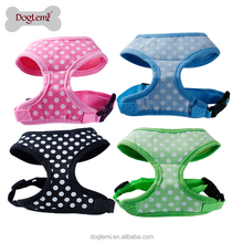 Chinese supplies wholesale Fashion Cute Polka Dots Design Soft Pet Harness Dog Walking Harness