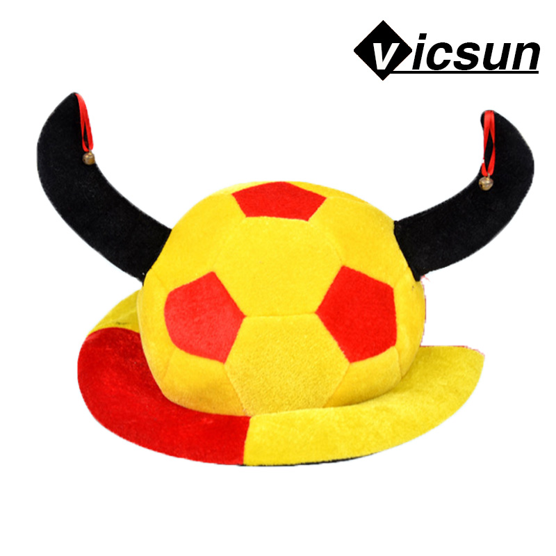 new design world cup ball game horned football carnival hat Christmas Halloween gifts