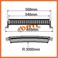 ATL top selling 120w led light bar trailer lights cheap,4x4 off road buggy light