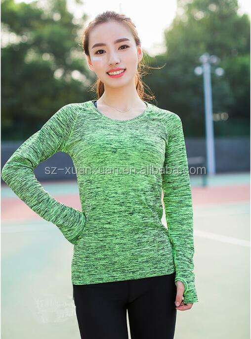 wholesale sportwear green running women t-shirt
