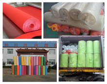 100% colored polyester felt needle punched nonwoven fabric