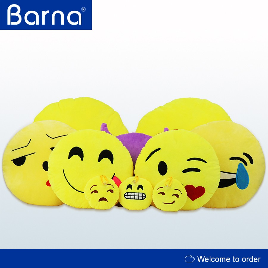 Stuffed Pillow Cushion Emoji Poop Shaped Smiley Face Doll Toy