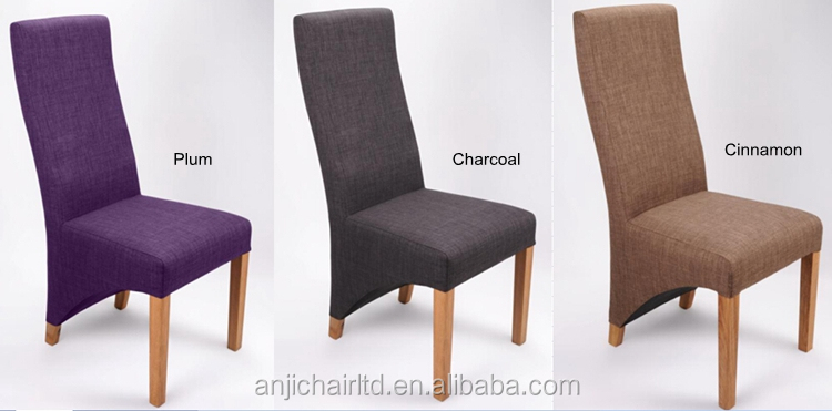 Barclay linen high back fabric dining chairs for for Stoelhoezen eetkamerstoelen