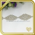 Wholesale hot fix ab crystal bridal neckline diamond trim rhinestone applique FRA-092