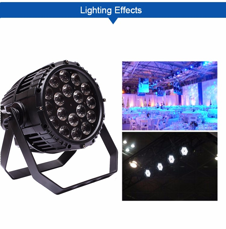 Professional stage lighting equipment waterproof 18*10w cheap price dj battery powered led par can light