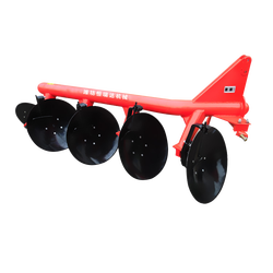 Reversible rotary non driven disc plow