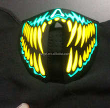 light up led maska for cyber costume dance music neon half mask
