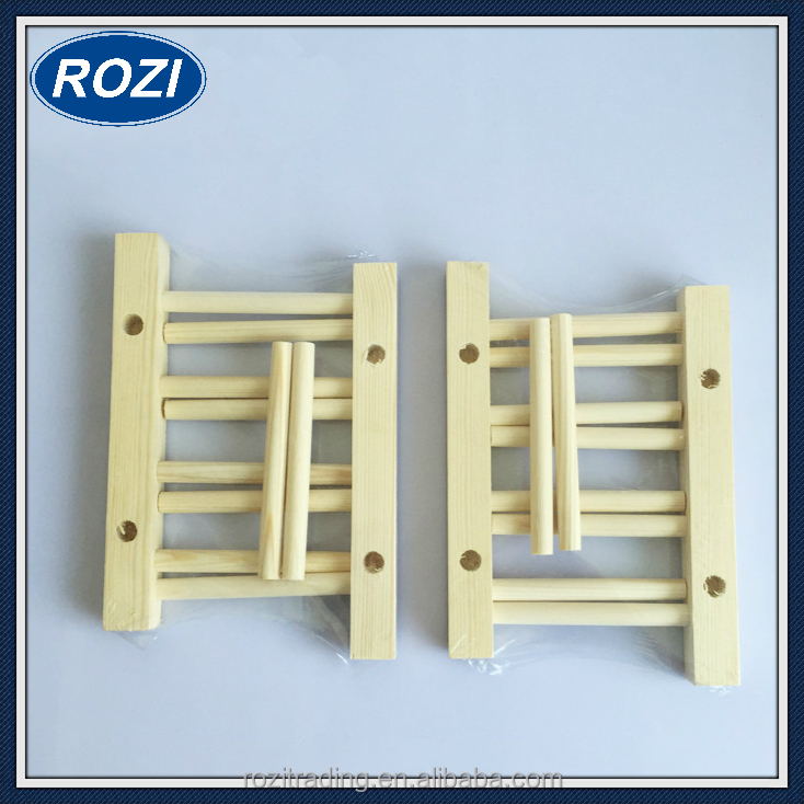 Wooden Folding Plate Dish Drainer 3 Plates Small Plate Rack Stand Holder Drainer Kitchen