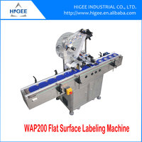 flat surface plane tin can cap labeling machine