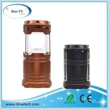 Plastic Camping Lantern,6 Led Rechargeable Lantern,Usb Solar Lantern With Mobile Phone Charger