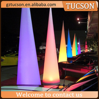 gaint inflatable led lighted cone shape light balloon for event decoration