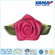 New production high grade organza ribbon artificial flower for wall decoration