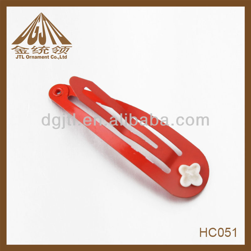 48mm carbon steel material red color formal hair accessories