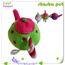 Teapot plush squeaker pet toy,pet product cheap import products