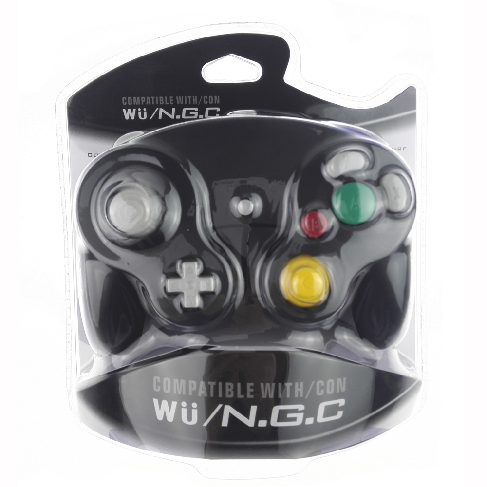 Black color For Nintendo Gamecube NGC Wired Shock <strong>Controller</strong>, Joypad