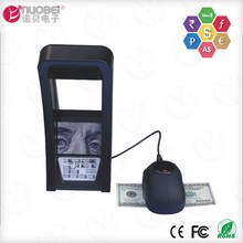 Bank note multi currency IR infrared detecting dollar bill portable false fake money scanner and counterfeit money detector
