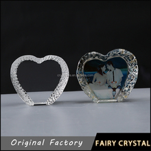 Personalized heart shape crystal wedding gifts