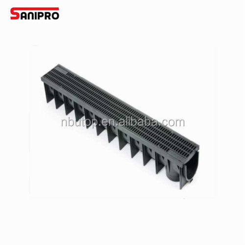 High Quality outdoor Channel drain cover plastic/PVC water drain channel & grate