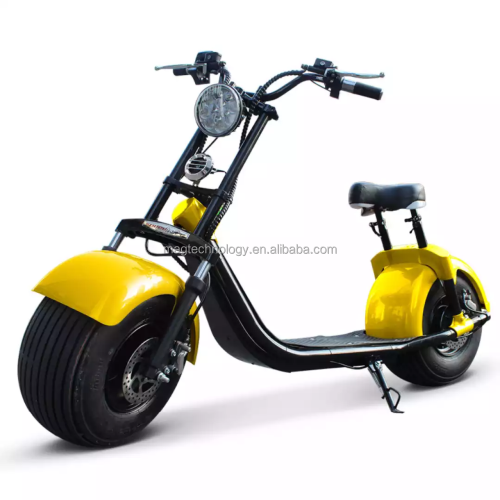 Cheap 60V 72V 1000W 2000w coc electric scooter electric motorcycle 2 wheel Citycoco with big round light and brake light