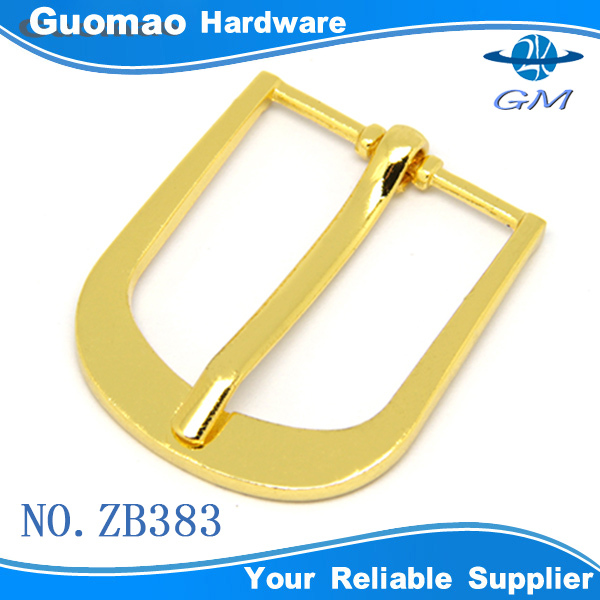 Gold color zinc alloy elegant metal plated gold color pin buckle