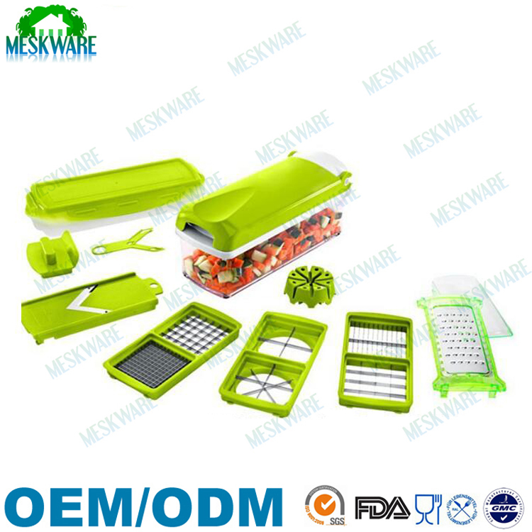 12 in 1 Onion chopper, fruit dicer chopper, fruit and cheese cutter container with storage Lid