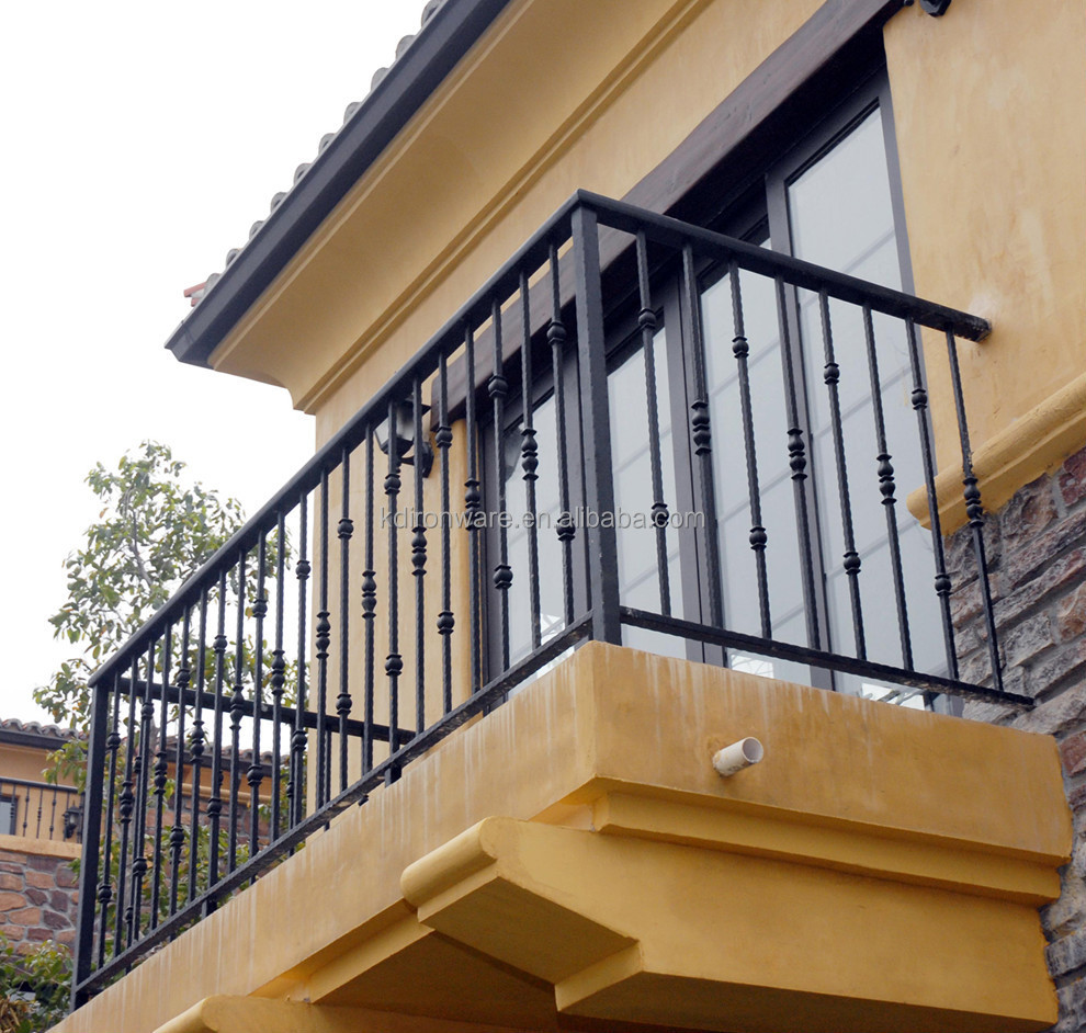 Factory Price Ornamental Wrought Iron Railings For Terrace