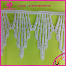 Fashion Cheap Wholesale 100%polyester Water Soluble Lace Trim