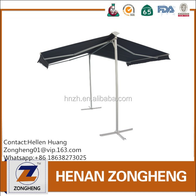 Double Slope Retractable Awnings with Rain Cover