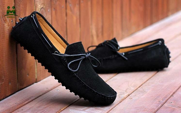 The Latest Design Suede Men Black Loafer Shoes Buy